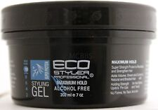 ECO STYLER SUPER PROTEIN STYLING GEL MAXIMUM HOLD ALCOHOL-FREE 8 FL. OZ.