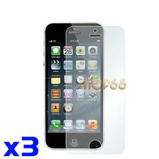 3x Protection Écran Lcd Transparent Film pour Apple iphone 5 5G 5s