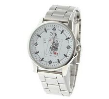 Mens Poker / Playing Card Design Analogue Quartz Watch - Water Resistant