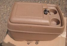 1990-91 FORD BRONCO & F150 & F250  CONSOLE BOX & KEY, BROWN