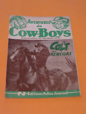1950's PULP AVENTURES DE COW-BOYS #371 EDITIONS POLICE JOURNAL FREE SHIPPING