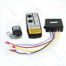 12V 50ft Wireless Remote Control Switch Kit For Truck Jeep ATV Winch Warn Ramsey