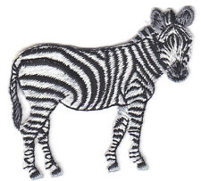 ZEBRA- JUNGLE - ZOO ANIMAL - IRON ON EMBROIDERED PATCH - WILD ANIMALS