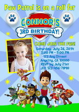 PAW PATROL CUSTOM PRINTABLE PHOTO BIRTHDAY PARTY INVITATION & FREE THANK U CARD