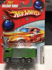 HOT WHEELS  2007 HOLIDAY RODS HIWAY HAULER GREEN  1/64 DIECAST ---  REAL RIDERS
