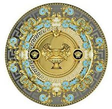 "VERSACE PRESTIGE GALA CHARGER PLATE BLUE 12"" MEDUSA NEW IN BOX SALE RETAIL. $700"