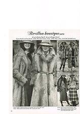 PUBLICITE  1978   REVILLON BOUTIQUE  fourrures