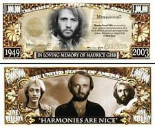 BEE GEES ! Maurice GIBB - BILLET DE COLLECTION 1 MILLION DOLLAR US ! Disco