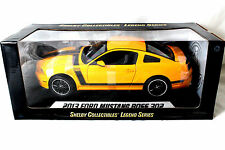 Shelby 2013 Ford Mustang Boss 302 Yellow W/ Black Stripes 1/18 Diecast Car 451