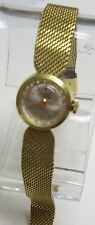 Vintage Goldtone Mesh Band GERMINAL Voltaire 7 Jewel Ladies Watch Gold Fill Band