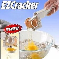 Egg EZ Cracker and Separator, Easy Egg Shell, Topper-Yolk Divider Colander