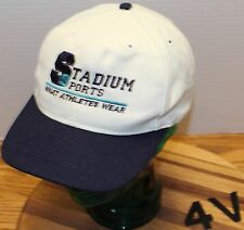 "STADIUM SPORTS ""WHAT ATHLETES WEAR"" HAT SNAPBACK ADJUSTABLE WHITE & BLUE VGC"