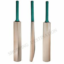 2 x Custom Hand Made English Willow Nur. In India Cricket Bat +FREE Cover + Grip