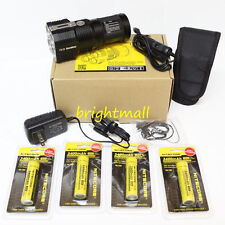 NEW 2015 NITECORE TM26 4000 Lumen LED W/4*3400 mah Batteries & Car charger