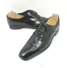 Salvatore Ferragamo 'Remigio' Cap Toe Oxford Black Leather Size 8.5 D $595