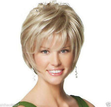 Fashion wig New sexy ladies short Blonde Natural Hair wigs + Free Wig cap