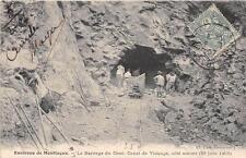 CPA 03 ENVIRONS DE MONTLUCON LE BARRAGE DU CHER CANAL DE VIDANGE COTE AMONT 1906