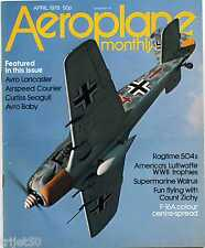 Aeroplane Monthly 1978 April Walrus,Lancaster,Avro Baby,Avro 504,Courier