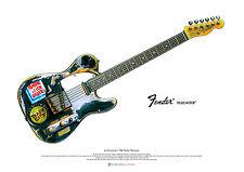 Joe Strummer's 1966 Fender Telecaster ART POSTER A2 size