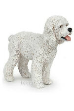 Papo 54016 White Poodle Dog Toy Canine Animal Replica Figurine - NIP
