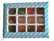 12 Surtido de Piedras Preciosas Joyería Colgantes De Cristal Healing New age