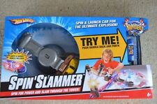 Hot Wheels Rumblers Spin Slammer Play Set Lights & Sounds Vehicle Included