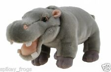 *NEW* AFRICAN ANIMAL HIPPO HIPPOPOTAMUS STANDING SOFT TOYS 35CM