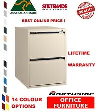2 Drawer Vertical Standard Filing Cabinets-Statewide-Australian Made-Heavy Duty