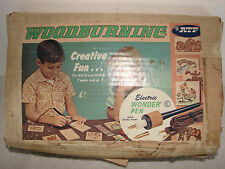 VINTAGE ATF WOODBURNING WOOD BURNING KIT AMERICAN TOYS ELECTRIC WONDER PEN BOX