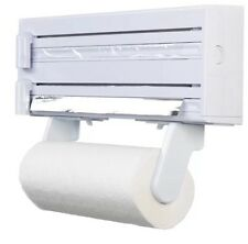 KitchenCraft  Kitchen Roll Towel, Tin Foil & Cling Film Dispenser Wall Mounted