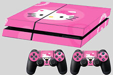 kitty skin for ps4 console decal sticker controller #64 pink cute girls cat