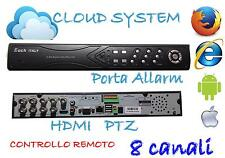 Dvr 8 Canali H264 HDMI iCloud High Quality Per iPhone Android Pc