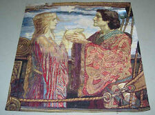 Tristan & Iseult ~ French Medieval Love Tale Grande Tapestry Wall Hanging