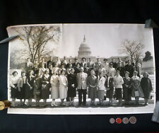 ~ RARE! ~ SOMERS CENTRAL SCHOOL (NY) 1959 Washington DC TRIP signed PHOTOGRAPH