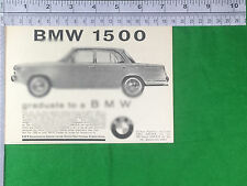 BMW 1500 1963 advert