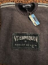 Nwt Vilebrequin Crew Neck Wool Sweater Gery Made In Italy XXL
