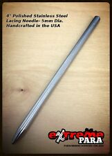 "eXtremePara.Com 4"" Polished Stainless Steel Lacing Needle/FID for 550 Paracord"