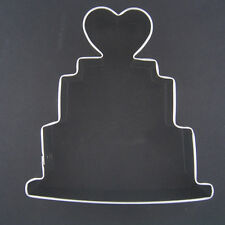 "WEDDING CAKE 5"" METAL COOKIE CUTTER BRIDAL SHOWER STENCIL PARTY FAVOR NEW"