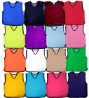 10 FOOTBALL MESH TRAINING SPORTS BIBS Kids Youth and Adult Sizes PRO QUALITY
