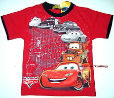 BNWT Cars Lighning McQueen T-Shirt Top boys Tshirt cotton new release size 4