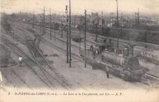 CPA 37 SAINT PIERRE DES CORPS LA GARE COTE EST (TRAIN