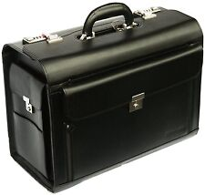 Faux Leather HQ Business Pilot case Laptop Flight Briefcase Handbag Luggag 6913