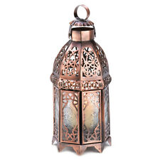 Copper Finish Iron Moroccan Candle Holder Lantern Lamp