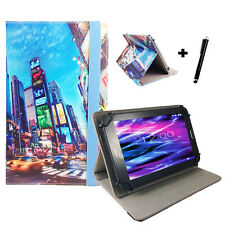 10.1 zoll Motiv Tablet Tasche Hülle Case Samsung Galaxy Tab 2 P5100 Time Square