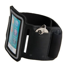 Sport Running Gym Soft Armband Cover Case for Apple iPod Nano 7th Gen Black