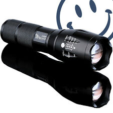 Led T6 Zoomable Tactical Police Torch Flashlight Cree XML Military Lamp 5 Modes