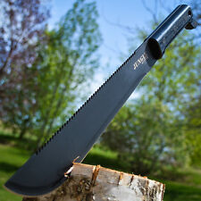 "18"" SURVIVAL HUNTING Sawback MACHETE KNIFE w/ SHEATH Military Fixed Blade Sword"
