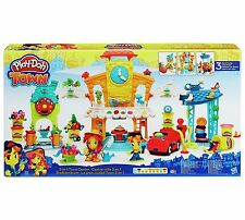 Play-Doh Town - 3-In-1 Town Center - Mechanic Shop, Flower Shop, and Restaurant