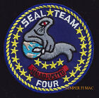 "3"" SEAL TEAM FOUR 4 HAT PATCH CORONADO CA US NAVY PIN UP USS SPECIAL OPERATIONS"