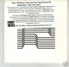 (I473) Fear of Music, We Are Not the Enemy EP - DJ CD